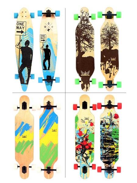 Kingtide Longboard Skateboard Drop-Deck Drop-Through Pintail