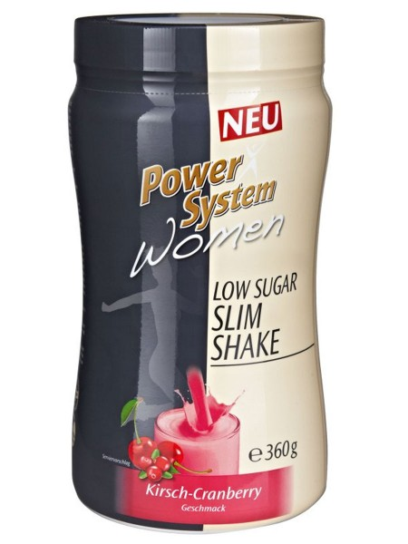 PowerSystem Women Low Sugar Slim Shake Cherry Cranberry Proteinshake
