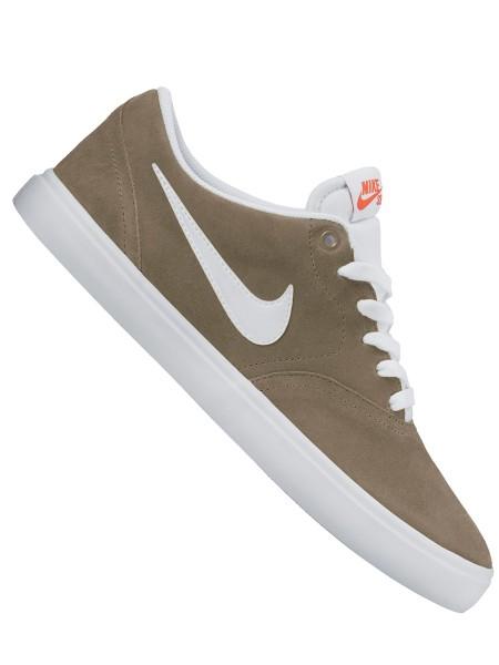 Nike SB Check Solarsoft Schuh khaki/white