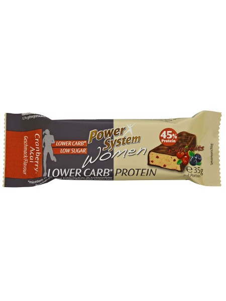 PowerSystem Women LOWer Carb Bar Cranberry-Acai Proteinriegel