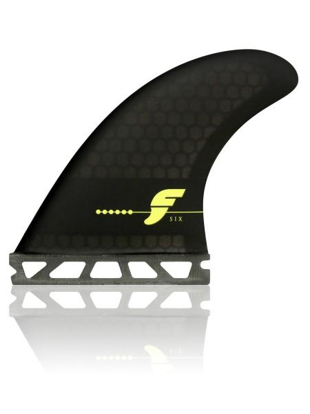 Futures Fins F6 Honeycomp Thruster Surfboard Finnen smoke