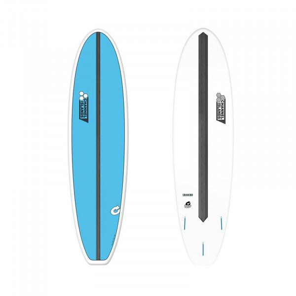 """CHANNEL ISLANDS 8'0"""" X-lite Chancho Blue Surfboard"""