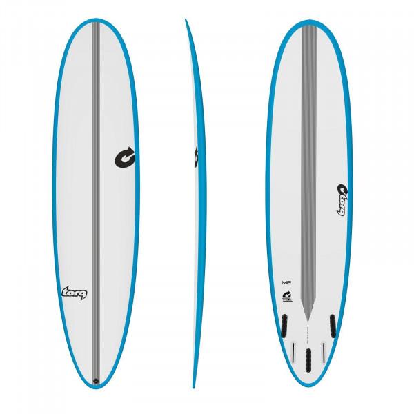 Surfboard TORQ Epoxy TEC M2 7.6 Rail Blau