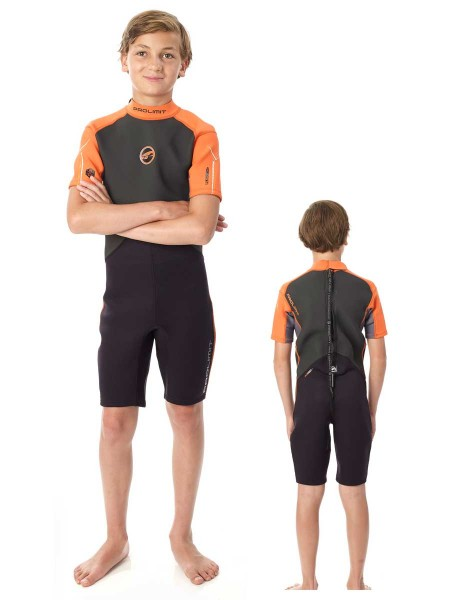 Prolimit Fusion Kinder Neoprenshorty schwarz/orange