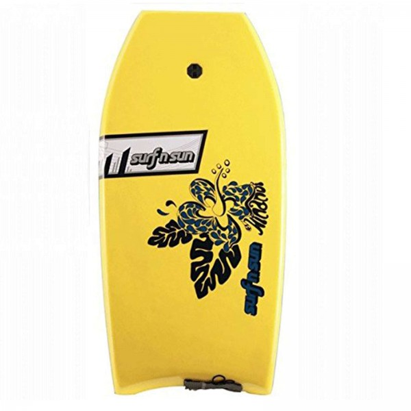 """SurfnSun 41"""" Hinanui Bodyboard Gelb-Schwarz"""
