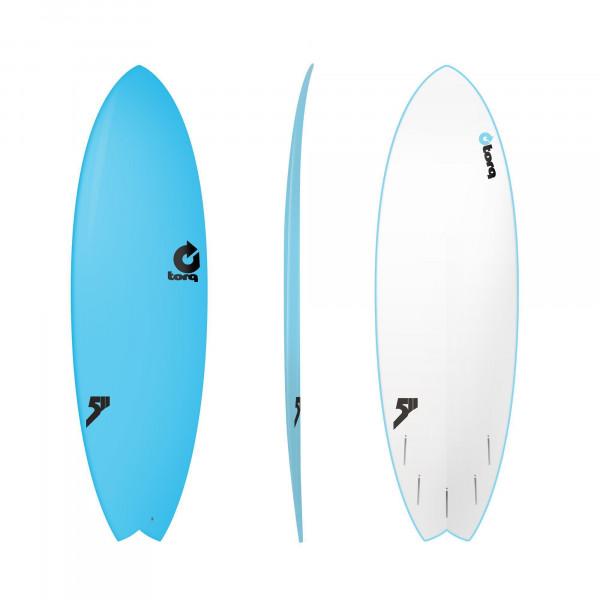 Surfboard TORQ Softboard 5.11 Fish Blue