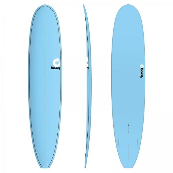 """TORQ 9'6"""" Epoxy TET Longboard blue Surfboard"""