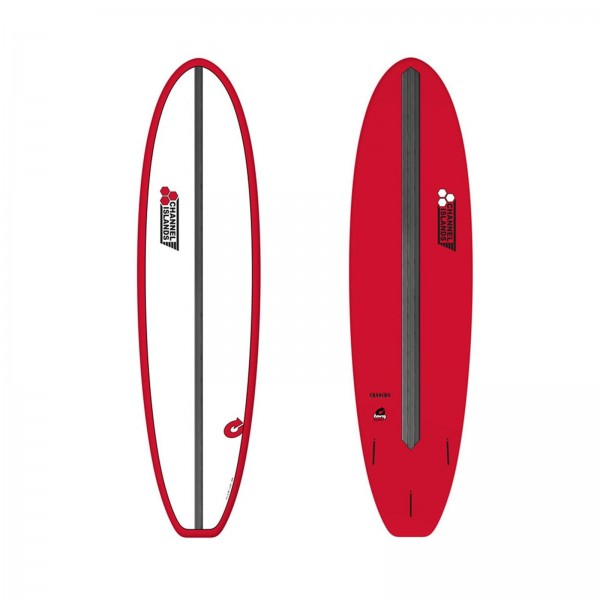 "CHANNEL ISLANDS 7'6"" X-lite Chancho 7.6 Red Surfboard"
