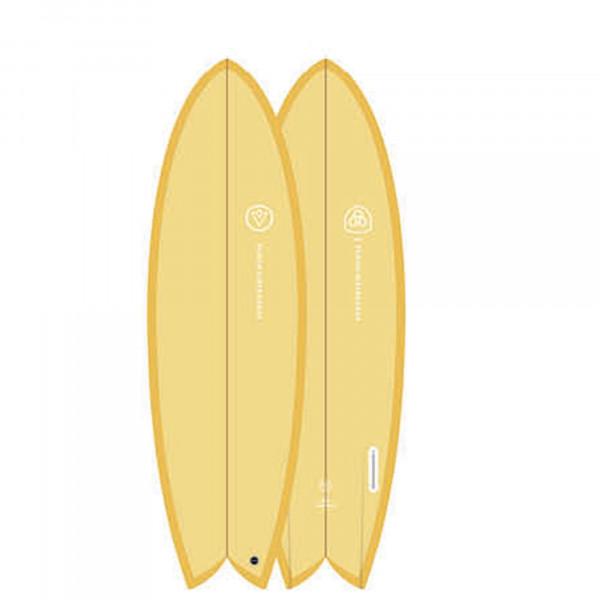 Surfboard VENON Node 5.9 Twinfin Retro Fish pastel