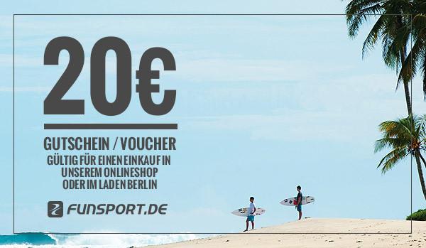 Funsport.de Geschenk-Gutschein - 20,- EUR