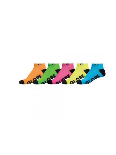 Globe Neon Ankle 5-Pack Socken