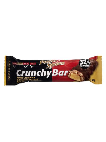 PowerSystem Crunchy Protein Bar Vanilla Caramel Proteinriegel