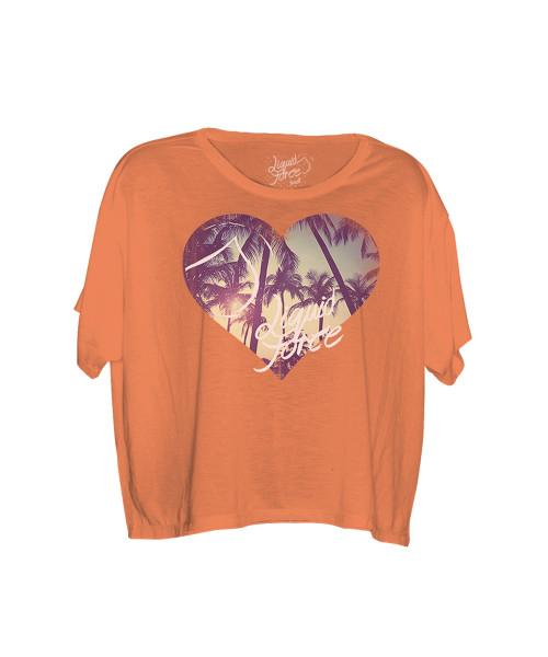 Liquid Force Love Paradise Womens T-Shirt coral