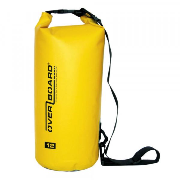 OverBoard wasserdichter Packsack 12 Liter Gelb