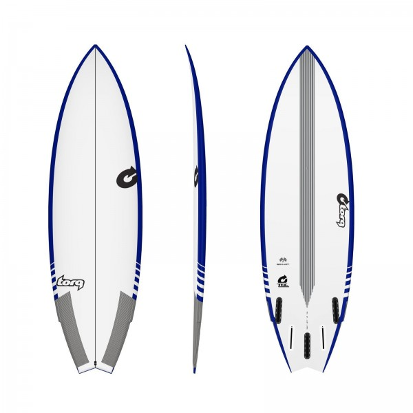 Surfboard TORQ Epoxy TEC Go-Kart 6.6 Rail Blau