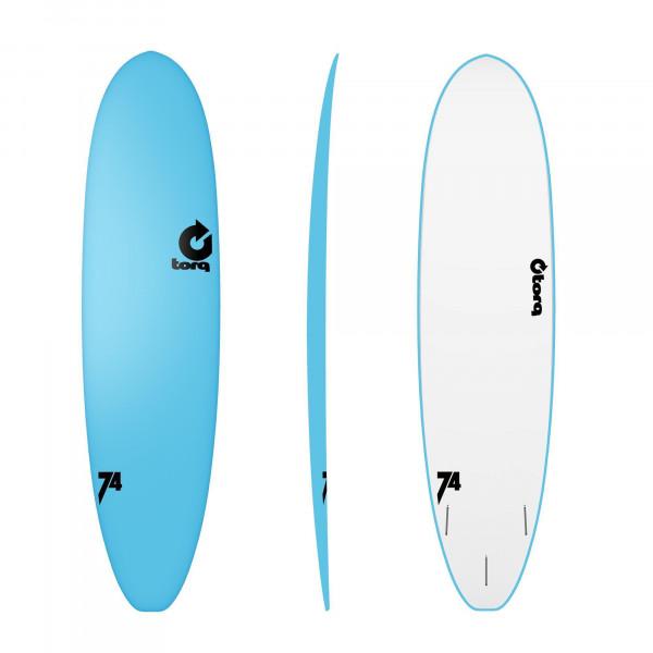 Surfboard TORQ Softboard 7.4 VP Funboard Blau